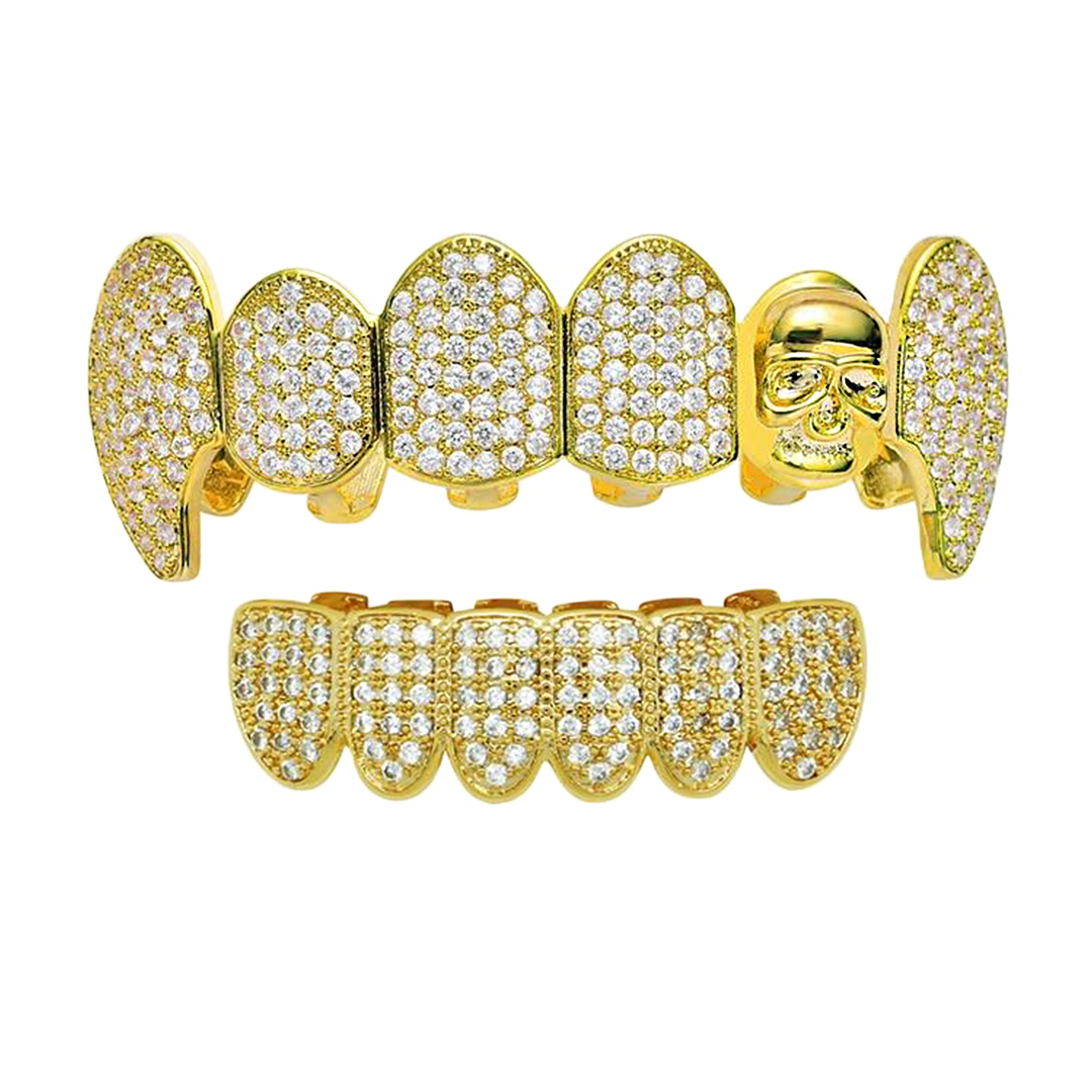 (Pre-Made) 18K Lab Diamond Fang/Skull Grillz