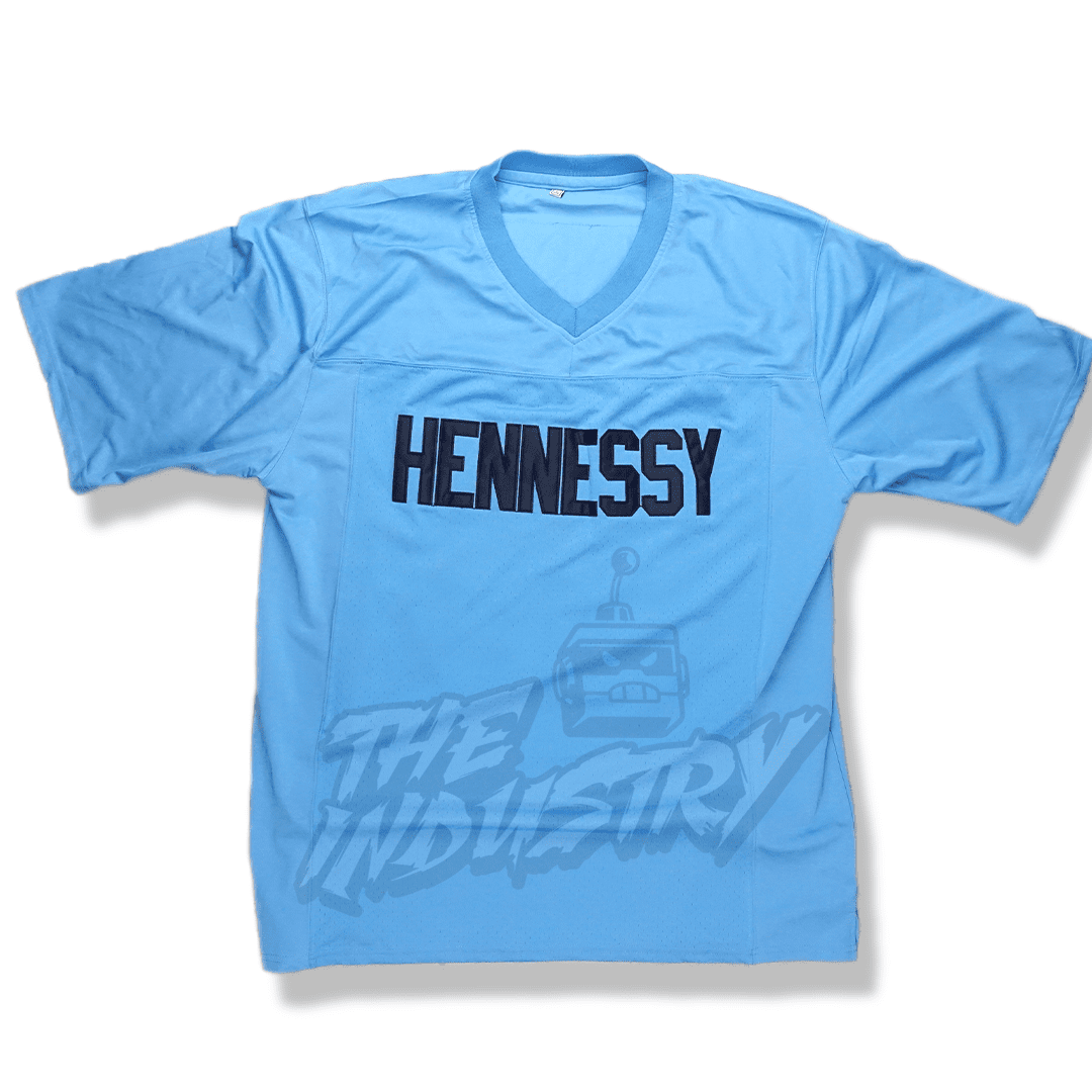 Shook Ones-95 Hennessy/Queens Bridge Football Jersey-Blue