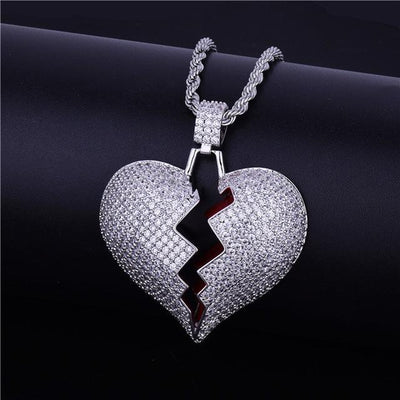 Broken HeartPendant + Necklace