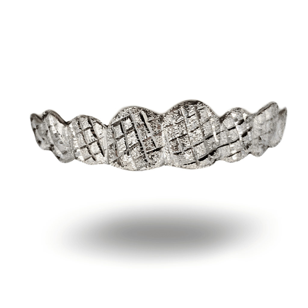 (Custom) White Diamond Dust Diamond Cut Grillz - Industry Pieces