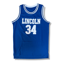 He Got Game - Jesus Shuttlesworth #34 Basketball Jersey - Blue And White