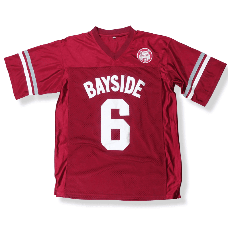 fc044449abf9 Saved By The Bell - AC Slater  6 Bayside Football Jersey