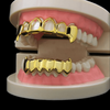 Pre-Made) 14k Gold Plated Open Face Fangs - Top & Bottom