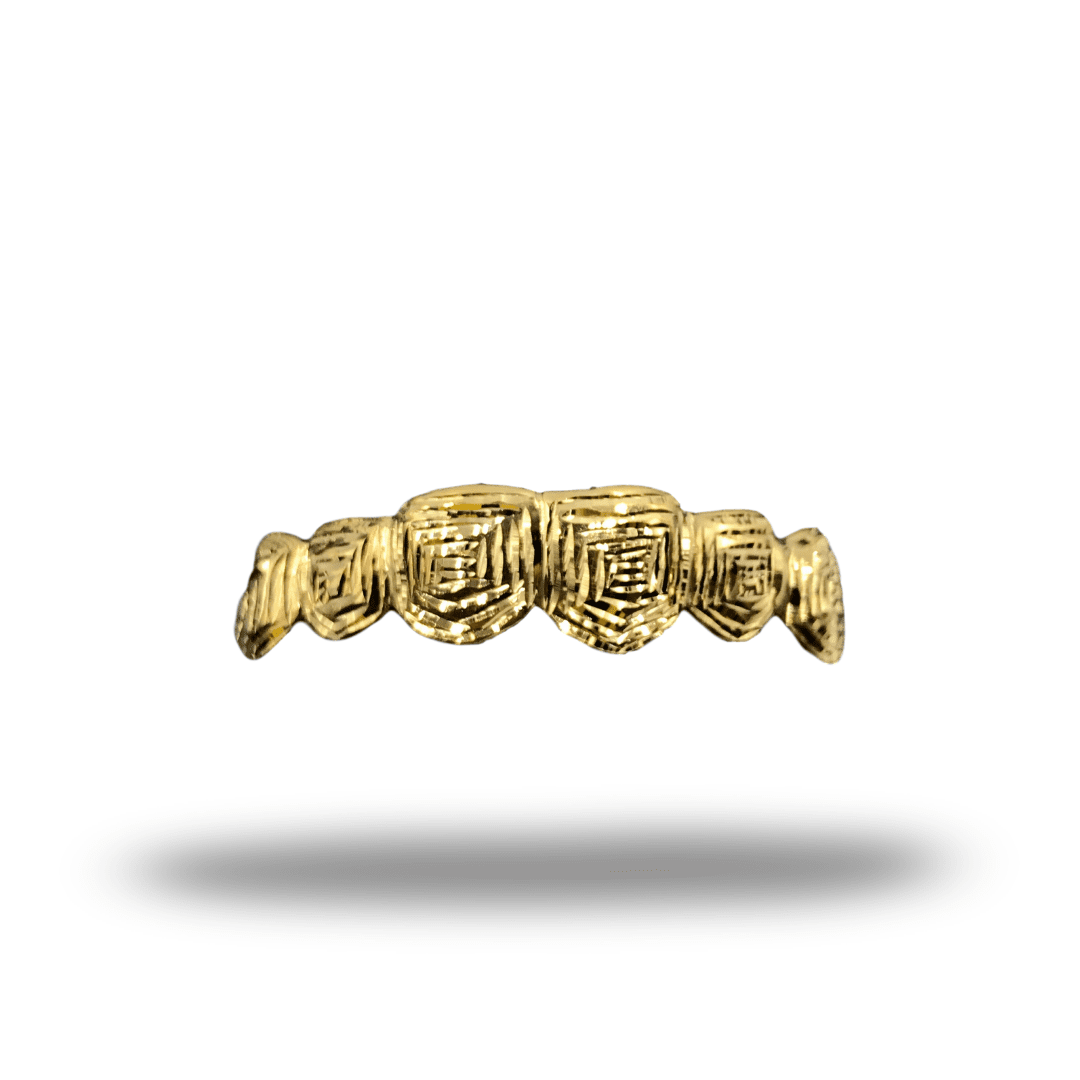 (Custom) Thumbprint Cut Gold Grillz