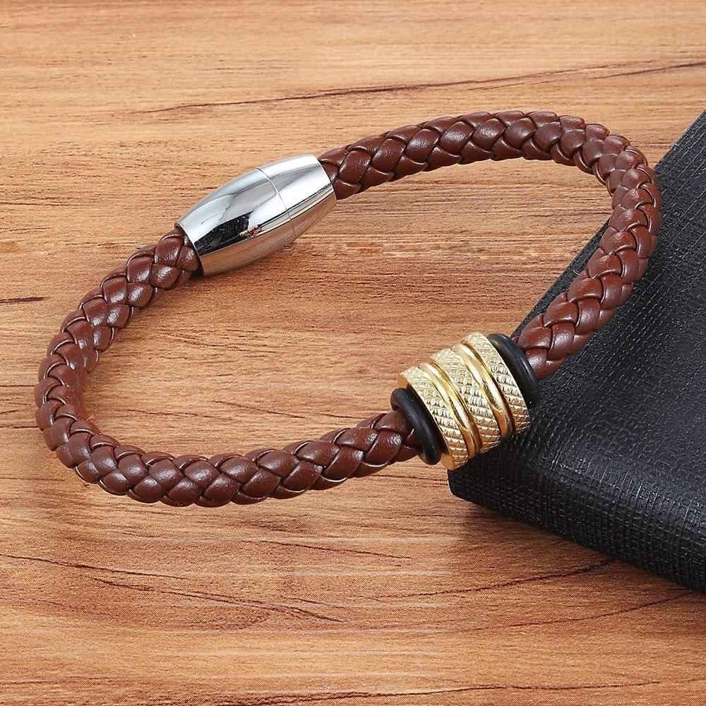 Multiple Color Serpentine Leather Bracelet