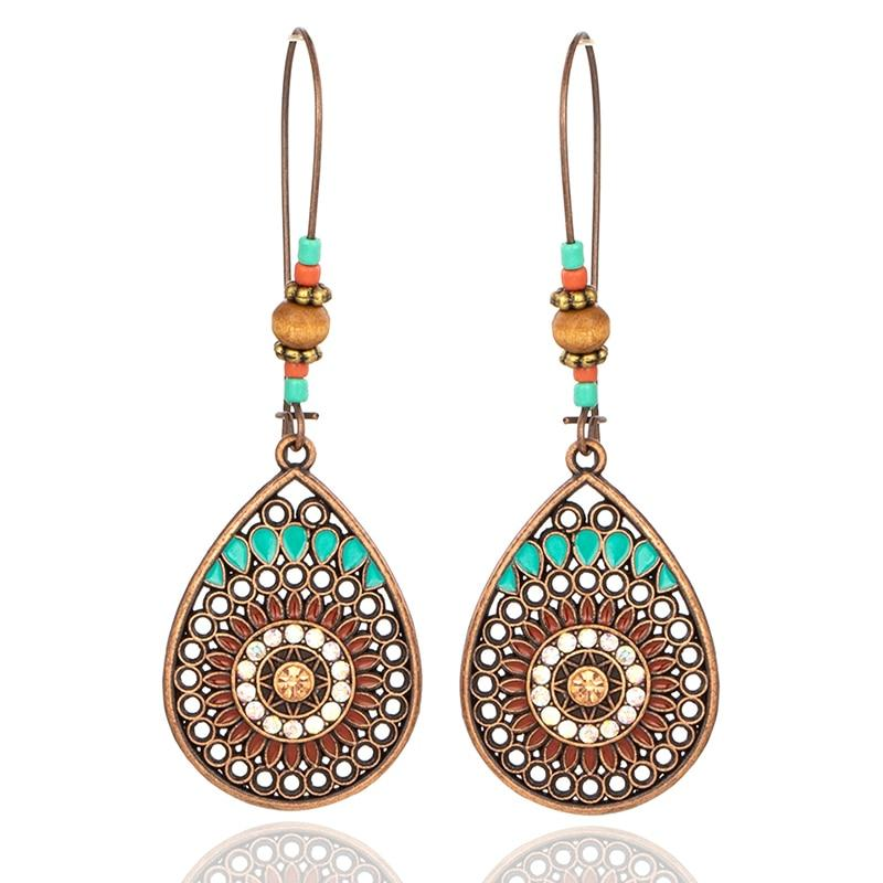 Water Drop Ethnic Earrings