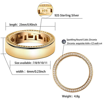 925 Gold Plated Ring