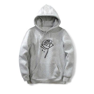 Rose flower Printed Harajuku Elegant Hoodies