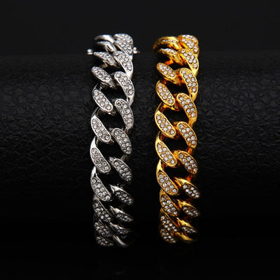 13mm Cuban Link Lab Diamond Bracelet