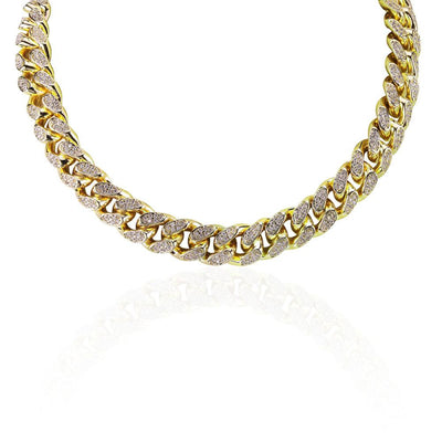 14mm Lab Diamond Cuban Necklace