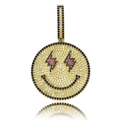 Flash Eyes Emoji Pendant Necklace