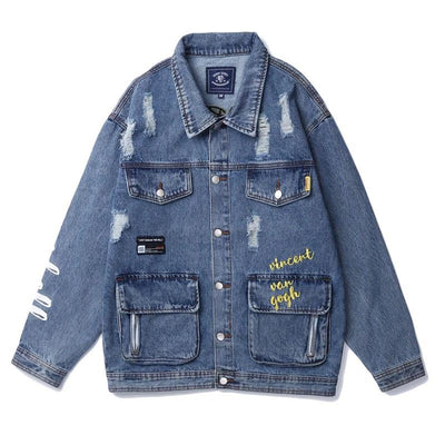 Winds Starry Distressed Jean Jacket
