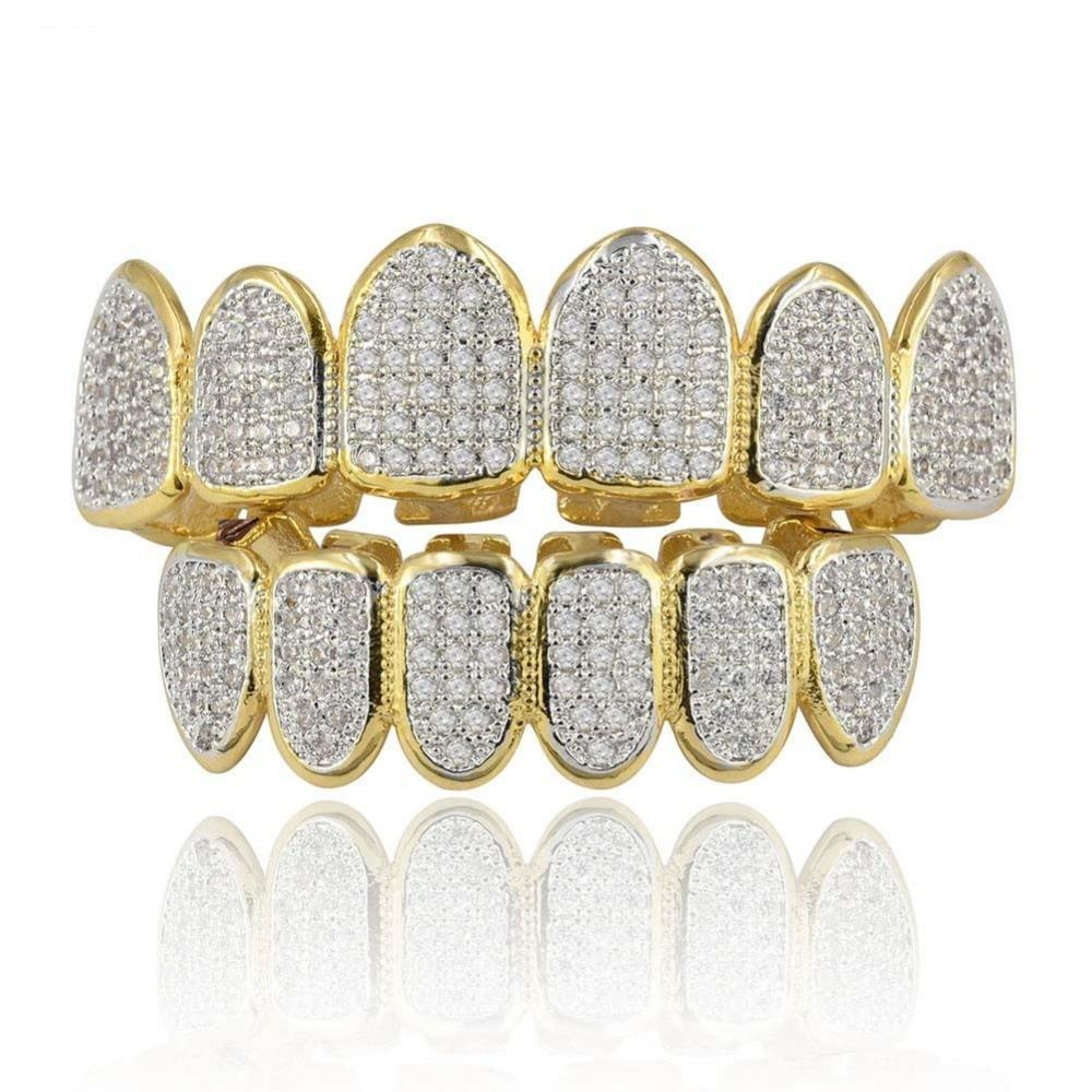 (Pre-Made) The Kevin Gates 18K Gold Plated CZ Grill | Top/Bottom/Set