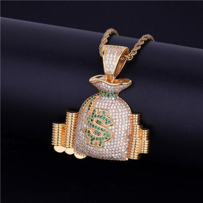 Money Bag Pendant + Necklace