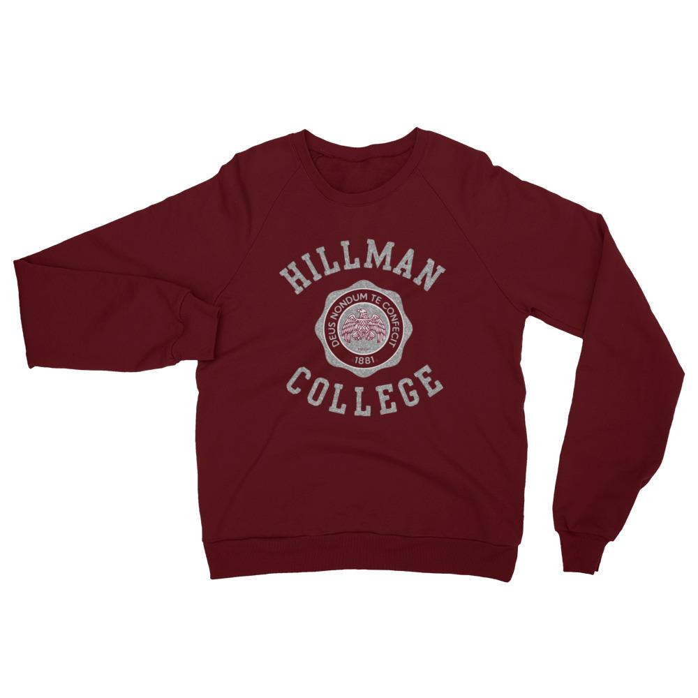 The Hillman Crewneck - Stone/Maroon