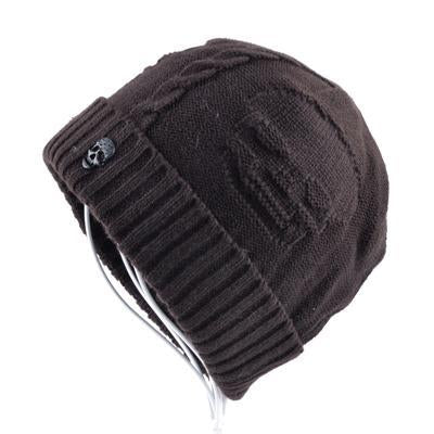 Brown The Skull Beanie - Industry Pieces