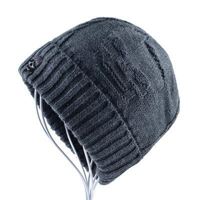 Gray The Skull Beanie - Industry Pieces