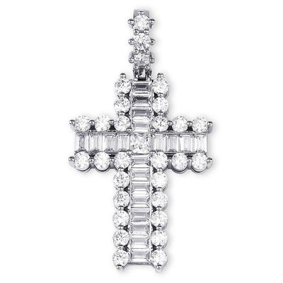 Lab Diamond Paved Cross Pendant Necklace