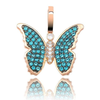Lab Diamond Shining Butterfly Pendant Necklace