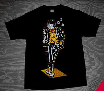 Michael Jackson Gold Billie Jean Air Shirt