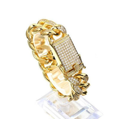 Chunky Lab Diamond Cuban Link Bracelet