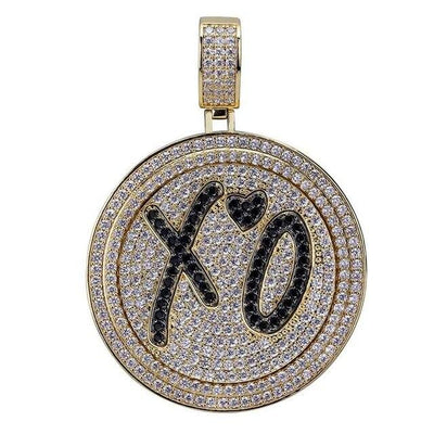 Lab Diamond XO Spinner Pendant Necklace