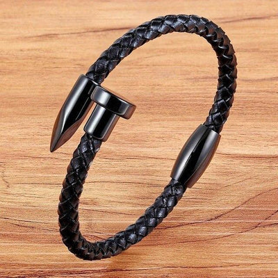 Panthers Claw Leather Bracelet