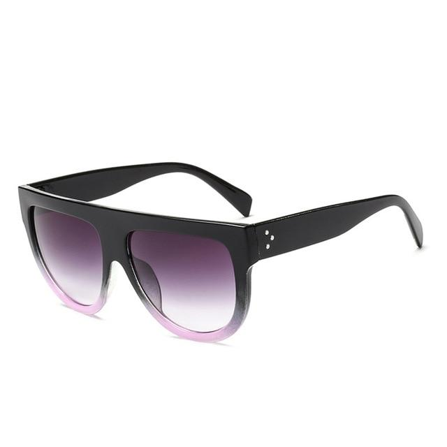 Women Retro Oversized SunGlasses Gradient Lens