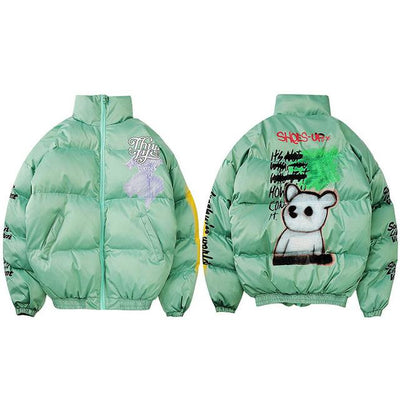 Parka Spray Paint Graffiti Jacket