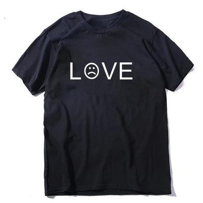 100% cotton summer funny love print short sleeve T shirt