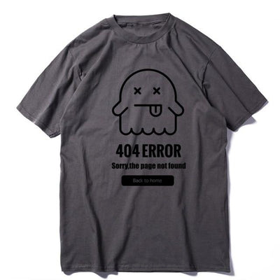 Summer loose knitted 404 problem men tshirt