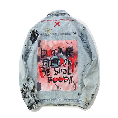 Winds City Graffiti Jean Jacket