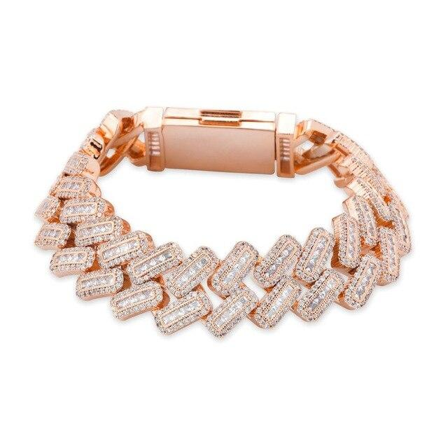 Big Square Miami Lab Diamond Link Bracelet