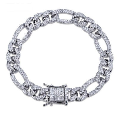 10mm Lab Diamond Miami Curb Bracelets