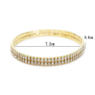 Lab Diamond Tennis Gold/Silver Anklet