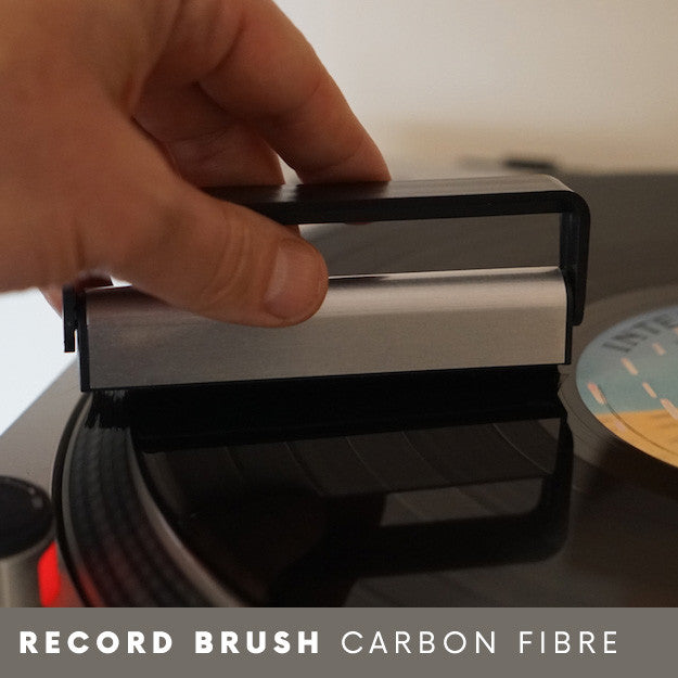 Carbon fibre anti static record brush