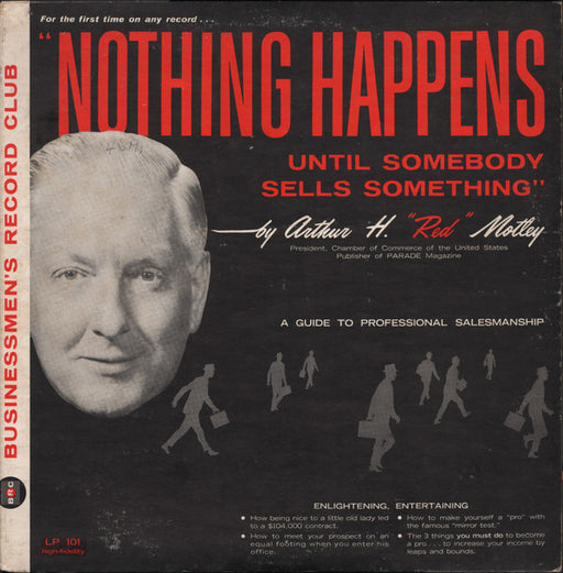 "Nothing Happens Until Somebody Sells Something – Arthur H. ""Red"" Motley (LP, Vinyl Record Album)"