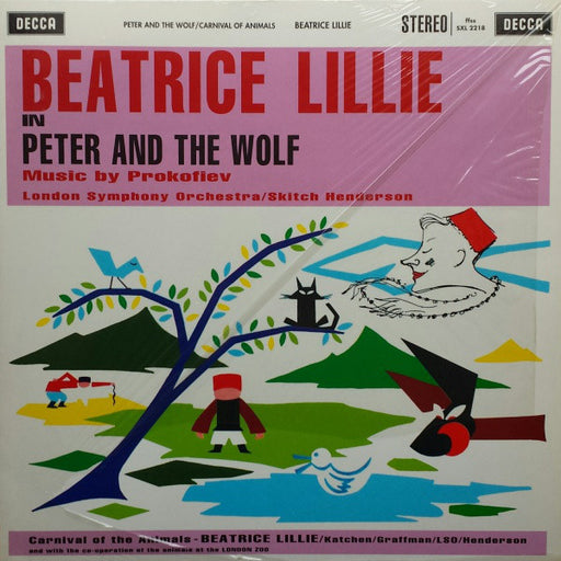Beatrice Lillie, Sergei Prokofiev, Camille Saint-Saëns, The London Symphony Orchestra, Skitch Henderson – Peter And The Wolf / Carnival Of The Animals (LP, Vinyl Record Album)