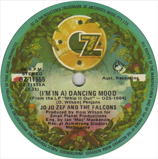 (I'm In A) Dancing Mood – Jo Jo Zep and the Falcons (LP, Vinyl Record Album)