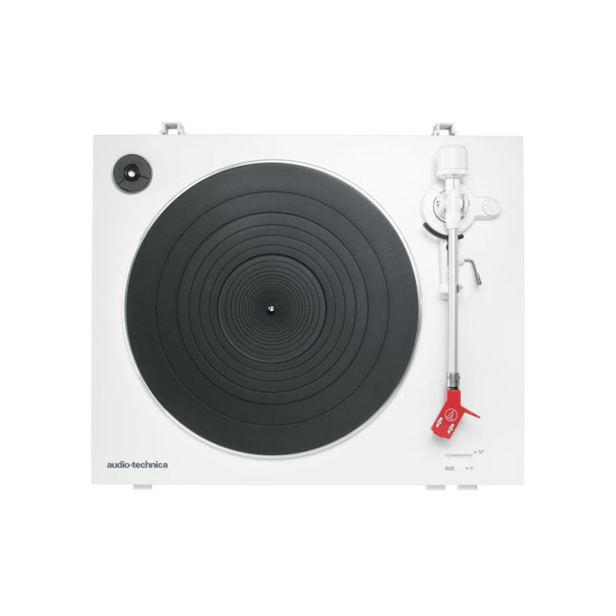Audio Technica AT LP3 Fully Automatic Belt Drive Stereo Record Player w/AT91R Cart WHITE