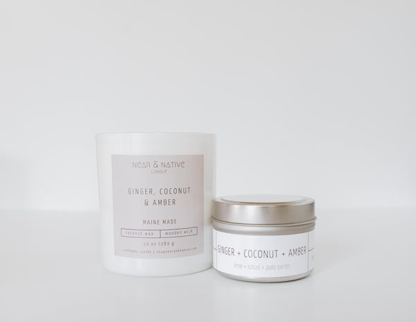 Ginger, Coconut & Amber Candle