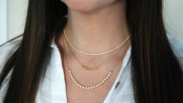 14K Gold Filled Miyuki Beaded Necklace