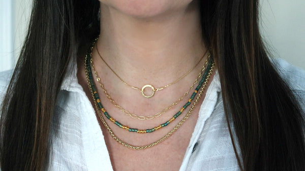 14K Gold Filled Multi Strand Necklace