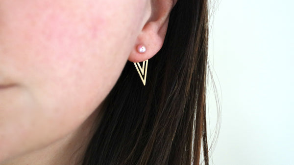 Delicate Freshwater Pearl Front/Back Earring