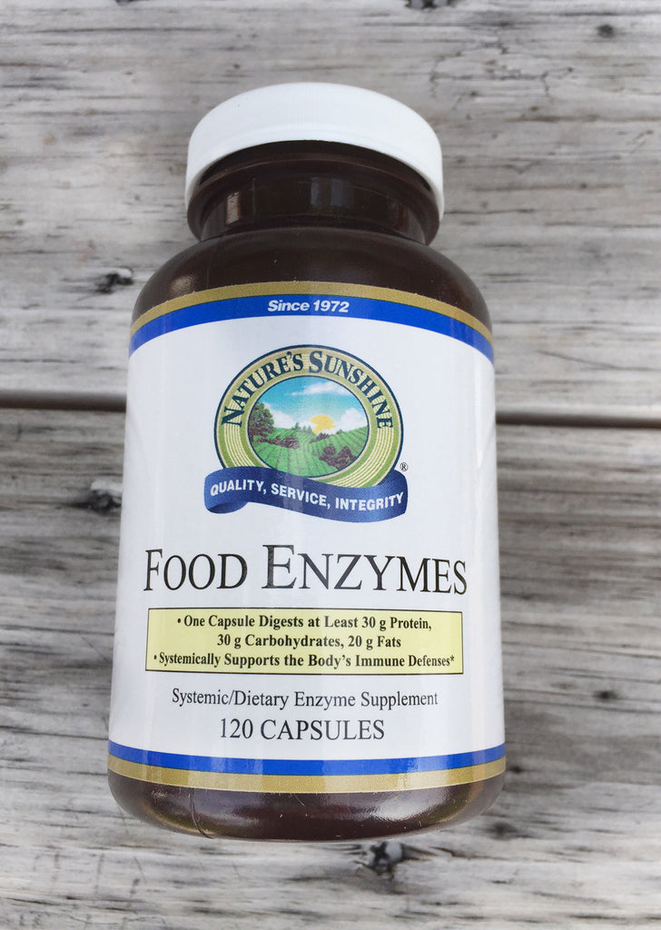 NATURE'S SUNSHINE Food Enzymes (120 caps) Digestive Enzyme Support
