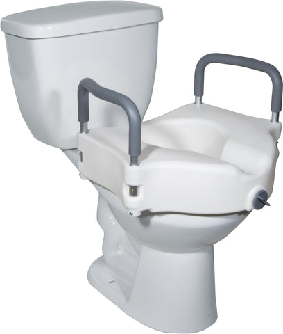 Raised Toilet Seat With Removable Arms