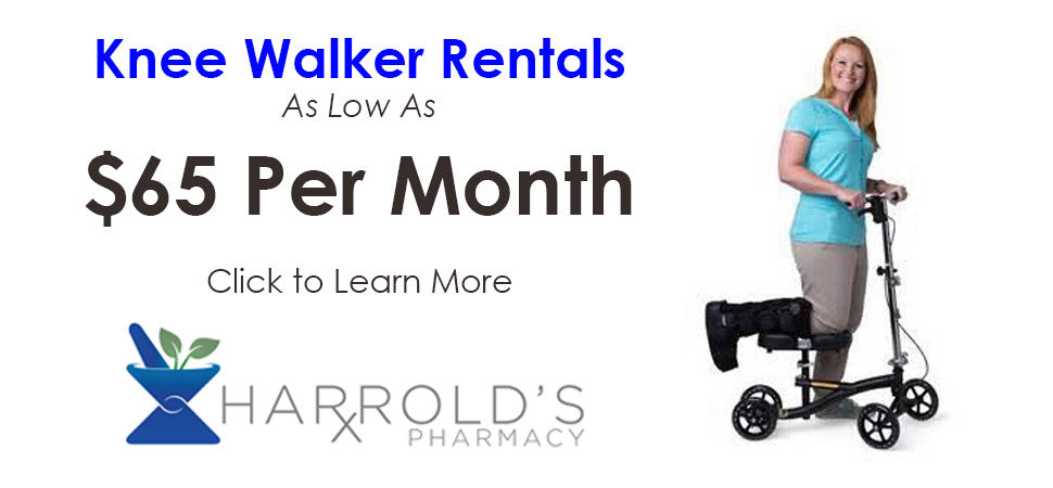 Knee Walker Rental as low as $65 per month Click to Learn More
