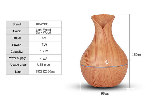 Electric Humidifier and Aroma Oil Diffuser