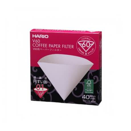 Hario V60 Papers 1 Cup - 40pk