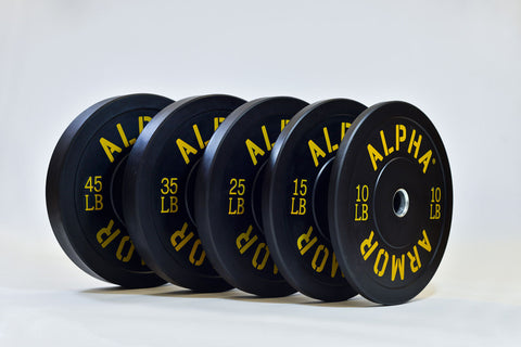 Bumper Plates Black Virgin Rubber Alpha Armor®